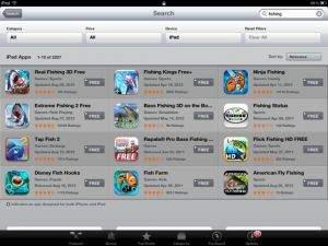 ios-5 app store search behavior