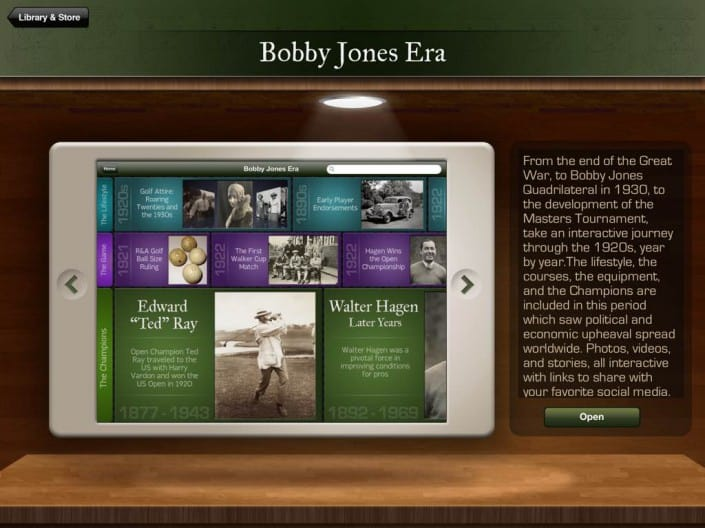 Golf History App: Store Detail View