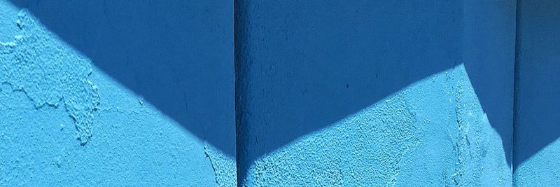 podcast cover art blue wall and shadow image
